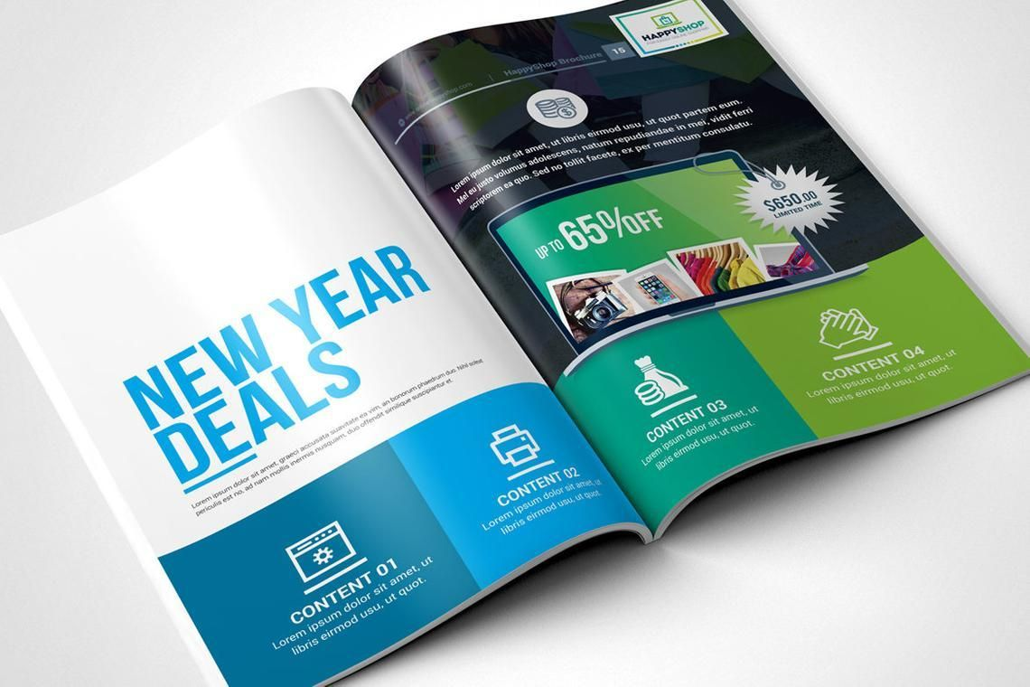30 Pages Bi-Fold Brochure InDesign Template, Slide 8, 08845, Business — PoweredTemplate.com