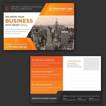 Abstract/Textures: Marketing material Design - Postcard Template #08849