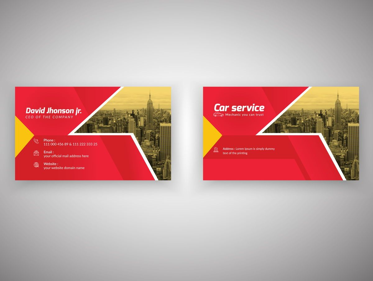Car Repair Service Marketing material Design Business Card Template, Slide 2, 08851, Abstract/Textures — PoweredTemplate.com