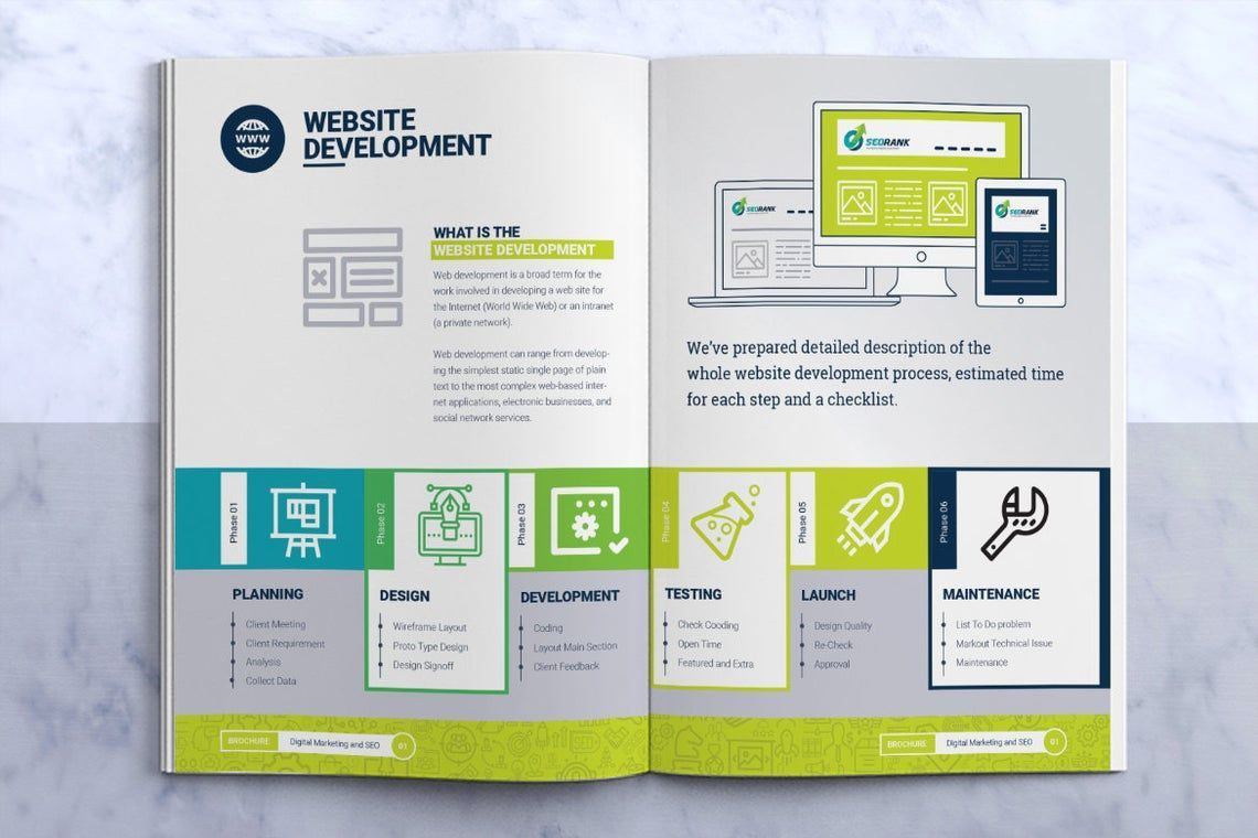 SeoRank Bi-Fold Brochure - Corporate Identity Template, Slide 7, 08856, Consulting — PoweredTemplate.com