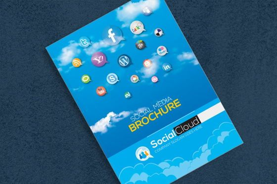 Technology, Science & Computers: Brochure for Social Media Business Corporate Identity Template #08858