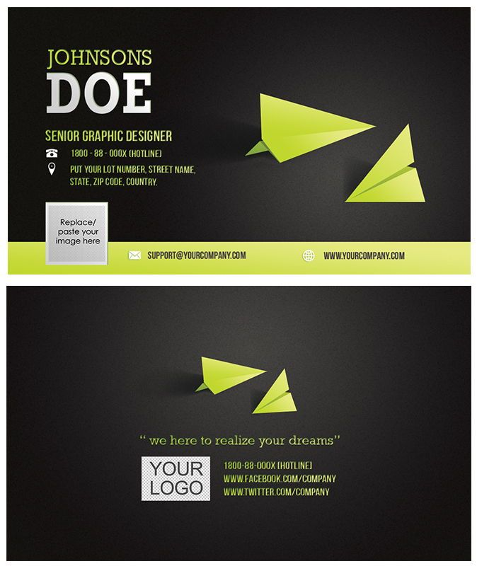 Corporate Business Card template, Slide 2, 08859, Abstract/Textures — PoweredTemplate.com