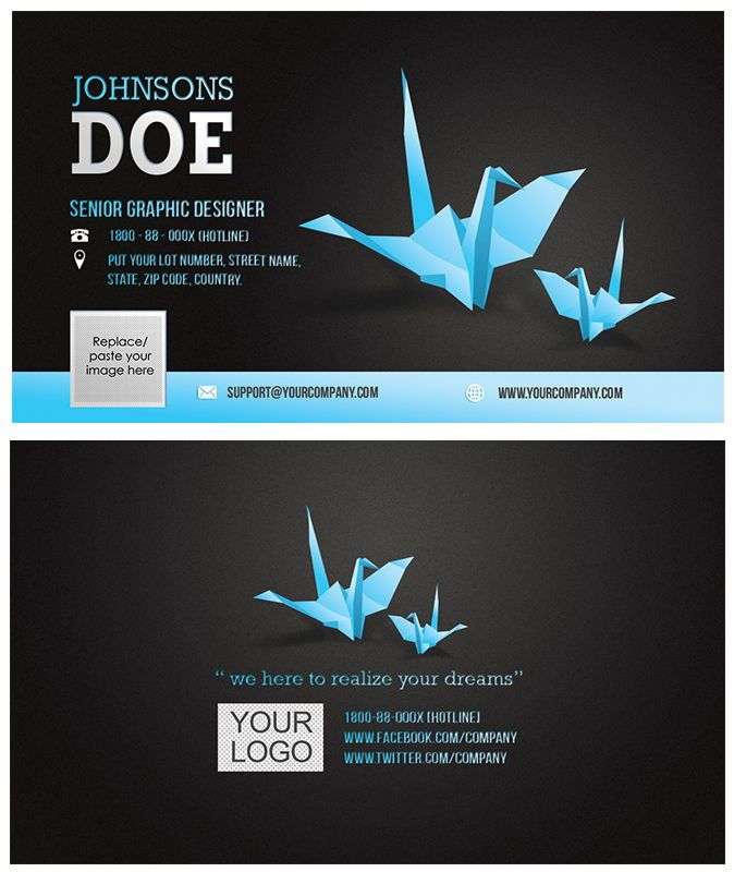 Corporate Business Card template, Diapositive 3, 08859, Abstrait / Textures — PoweredTemplate.com