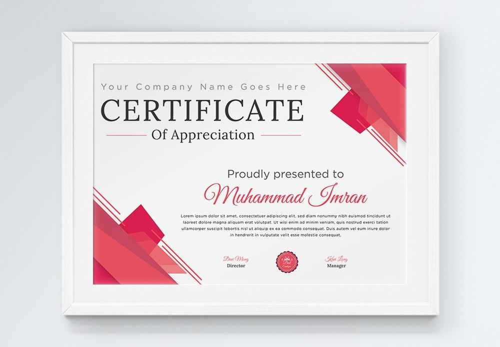 Minimal and Professional Certificate Designs template, Slide 2, 08862, Abstract/Textures — PoweredTemplate.com