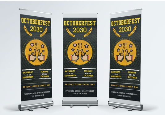 Abstract/Textures: Latest festival Roll Up Banner Templates Design #08864