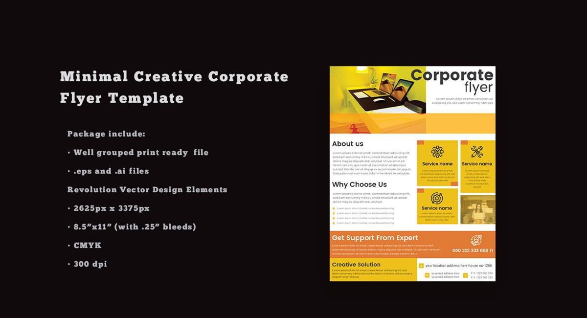 Multipurpose Business Services Promotional Flyer, 08865, Abstrato/Texturas — PoweredTemplate.com