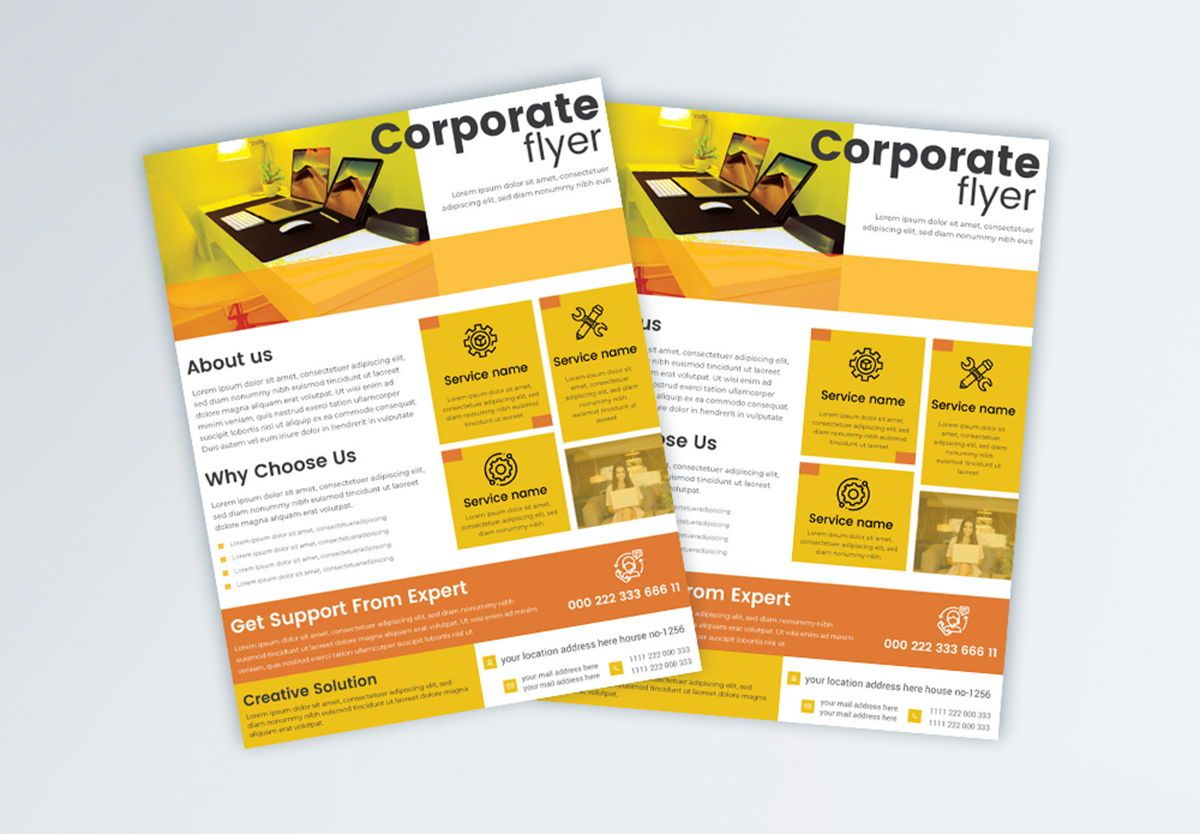 Multipurpose Business Services Promotional Flyer, Slide 2, 08865, Abstract/Textures — PoweredTemplate.com