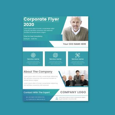 Abstract/Textures: Professional creative Corporate And Business Promotional Flyer Template #08867