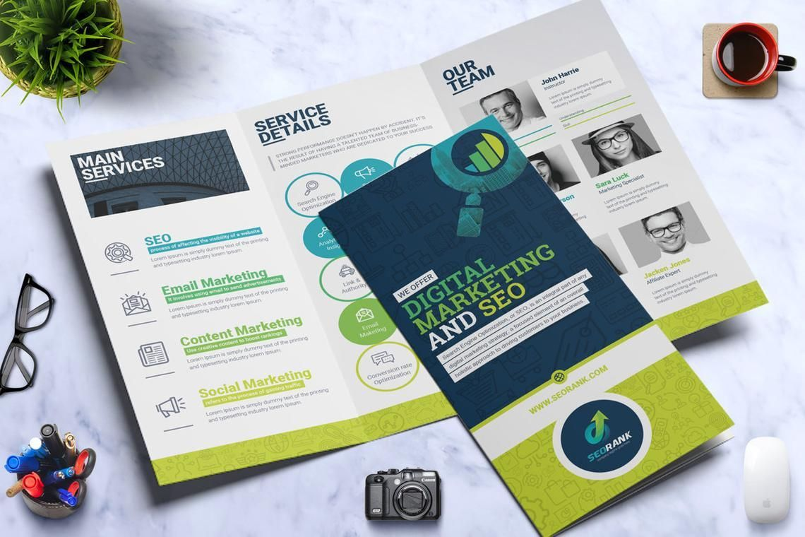 SEO Digital Marketing Agency Tr-Fold Brochure Template, Slide 4, 08868, Consulting — PoweredTemplate.com