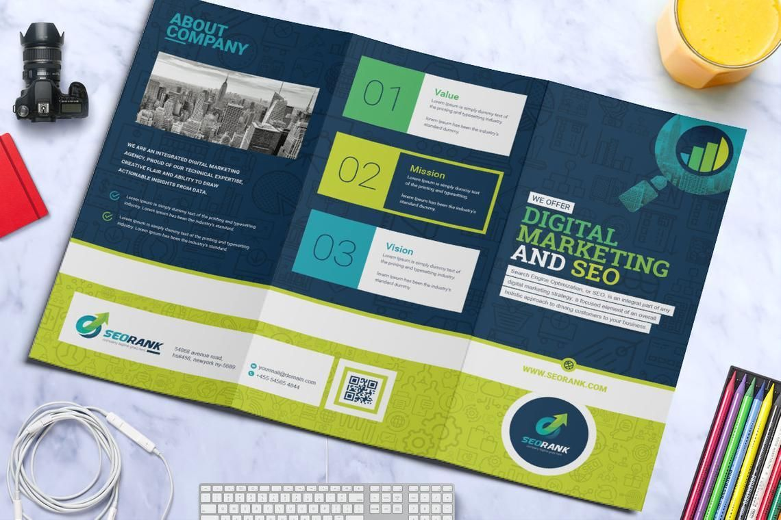 SEO Digital Marketing Agency Tr-Fold Brochure Template, Slide 5, 08868, Consulting — PoweredTemplate.com