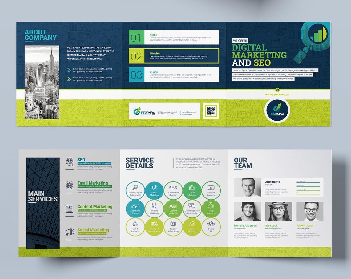 SEO Digital Marketing Agency Tr-Fold Brochure Template, Slide 6, 08868, Consulting — PoweredTemplate.com