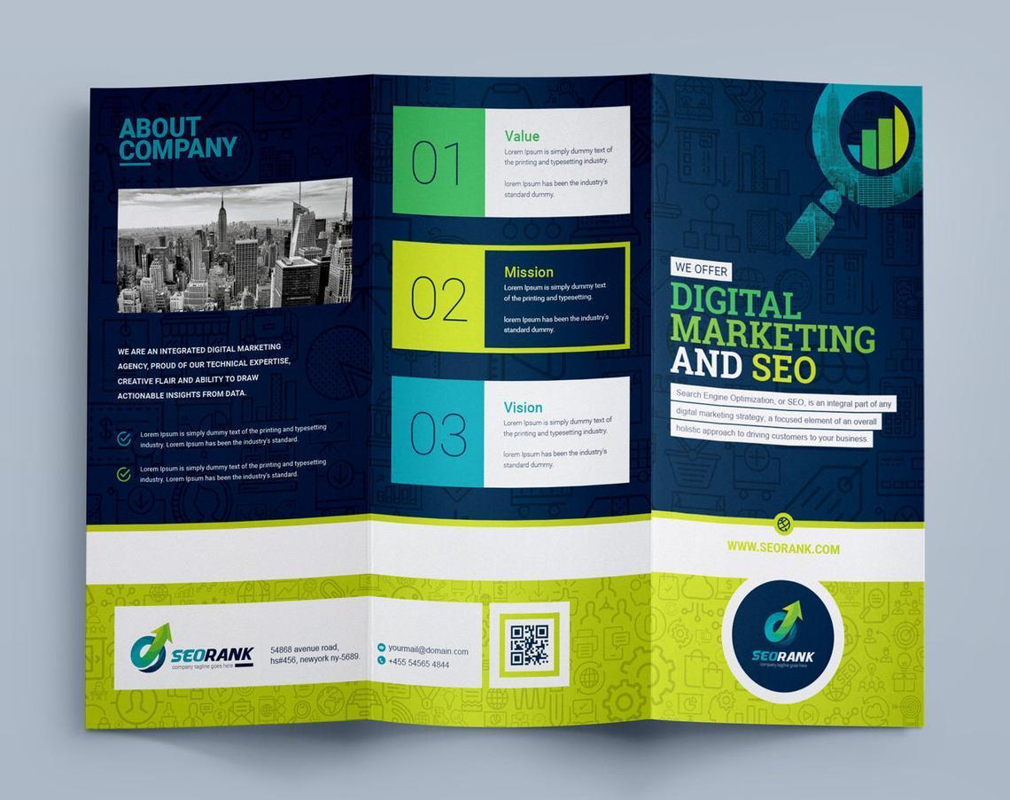 SEO Digital Marketing Agency Tr-Fold Brochure Template, Slide 7, 08868, Consulting — PoweredTemplate.com
