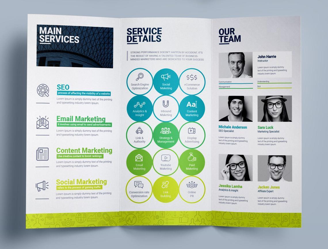 SEO Digital Marketing Agency Tr-Fold Brochure Template, Slide 8, 08868, Consulting — PoweredTemplate.com