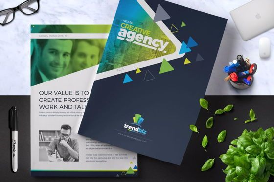 Business: Company Brochure Template #08869