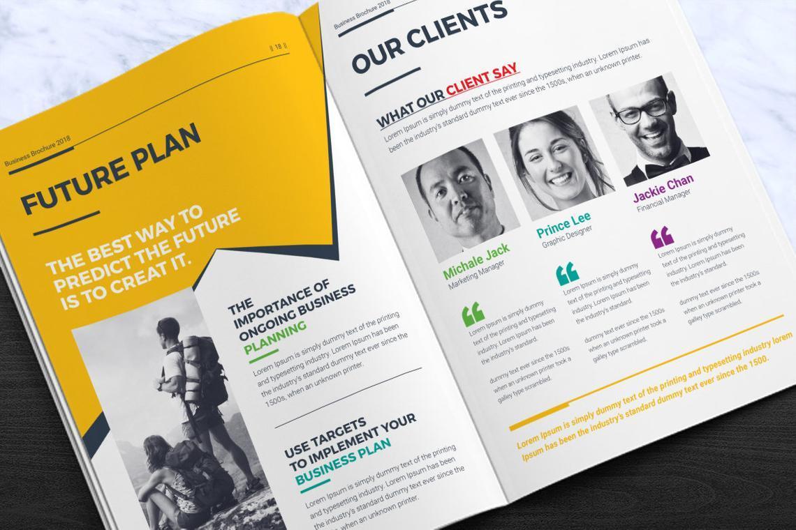 Corporate InDesign Brochure Template, Slide 10, 08870, Business — PoweredTemplate.com