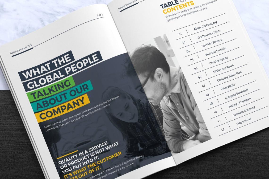 Corporate InDesign Brochure Template, Slide 2, 08870, Business — PoweredTemplate.com