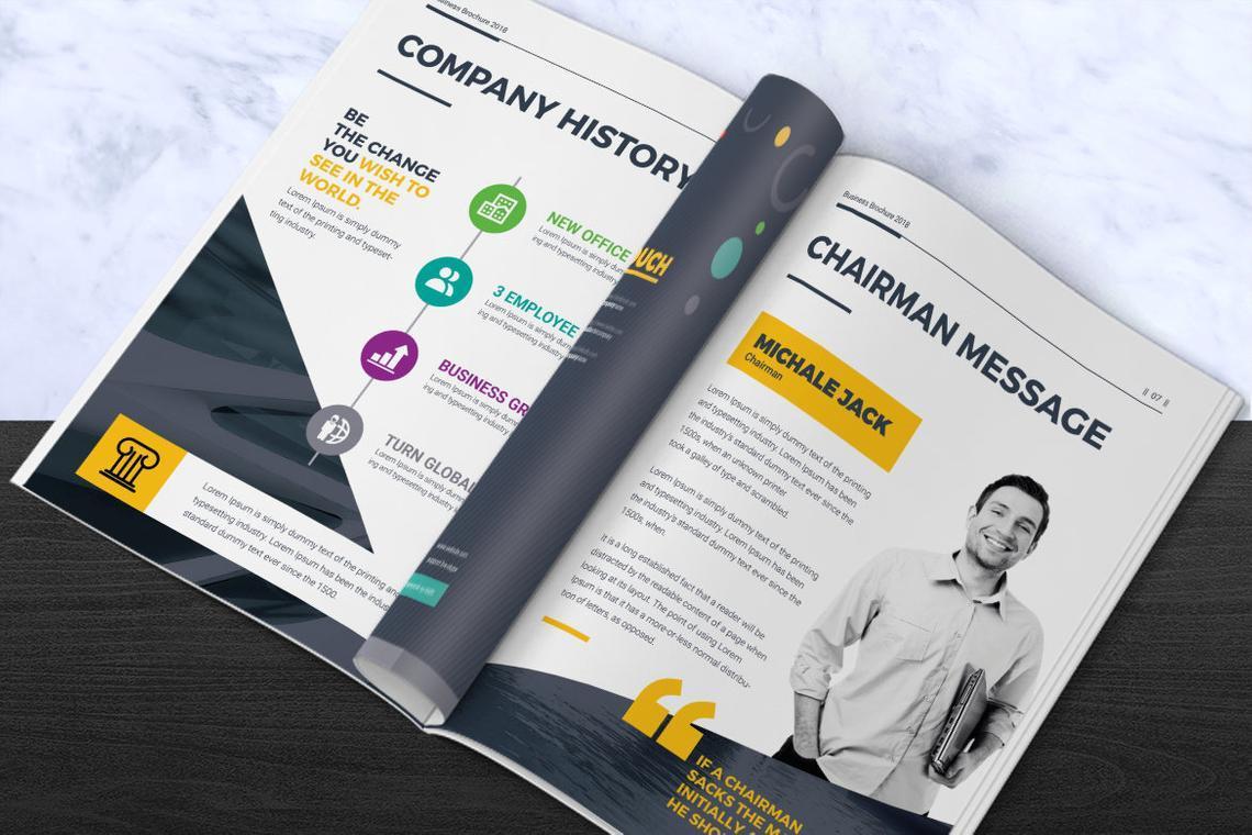 Corporate InDesign Brochure Template, Slide 4, 08870, Business — PoweredTemplate.com