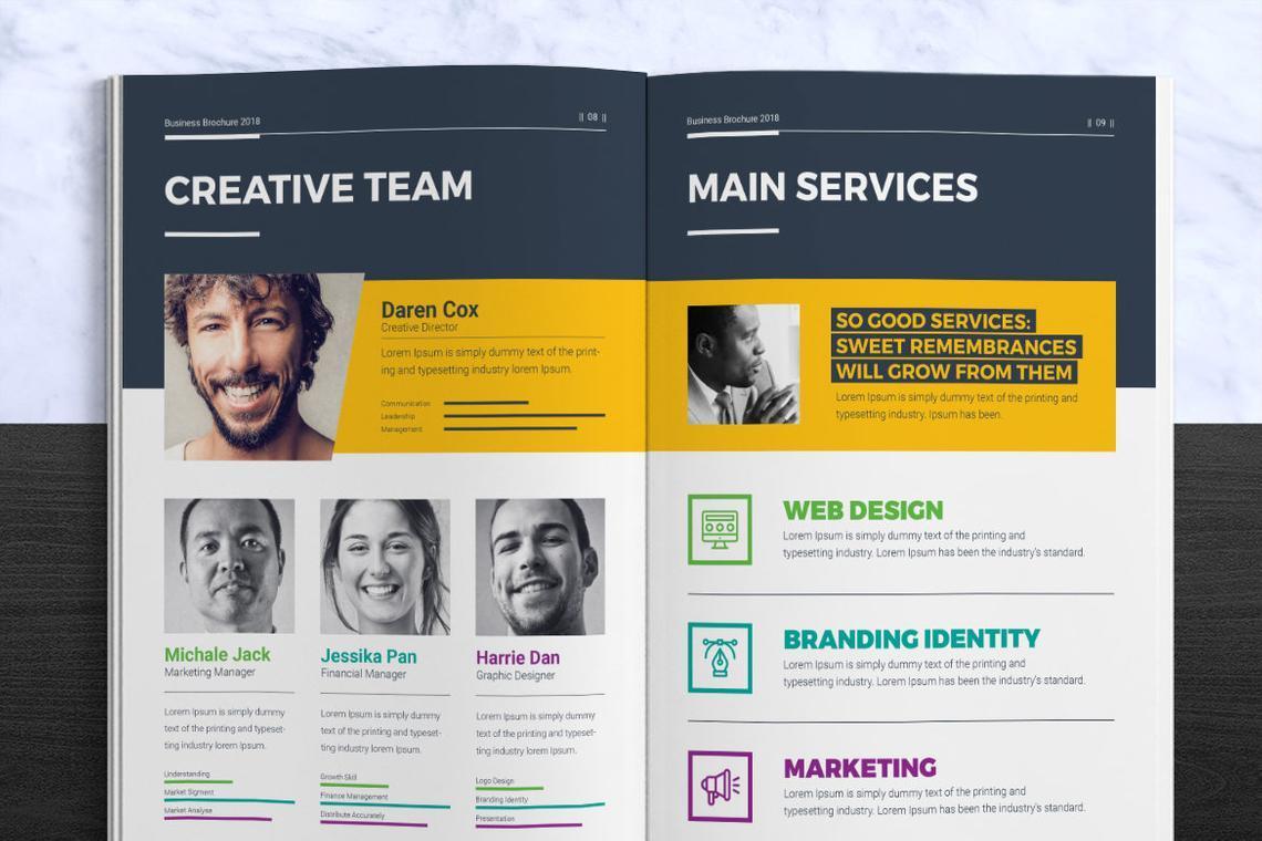 Corporate InDesign Brochure Template, Slide 5, 08870, Business — PoweredTemplate.com