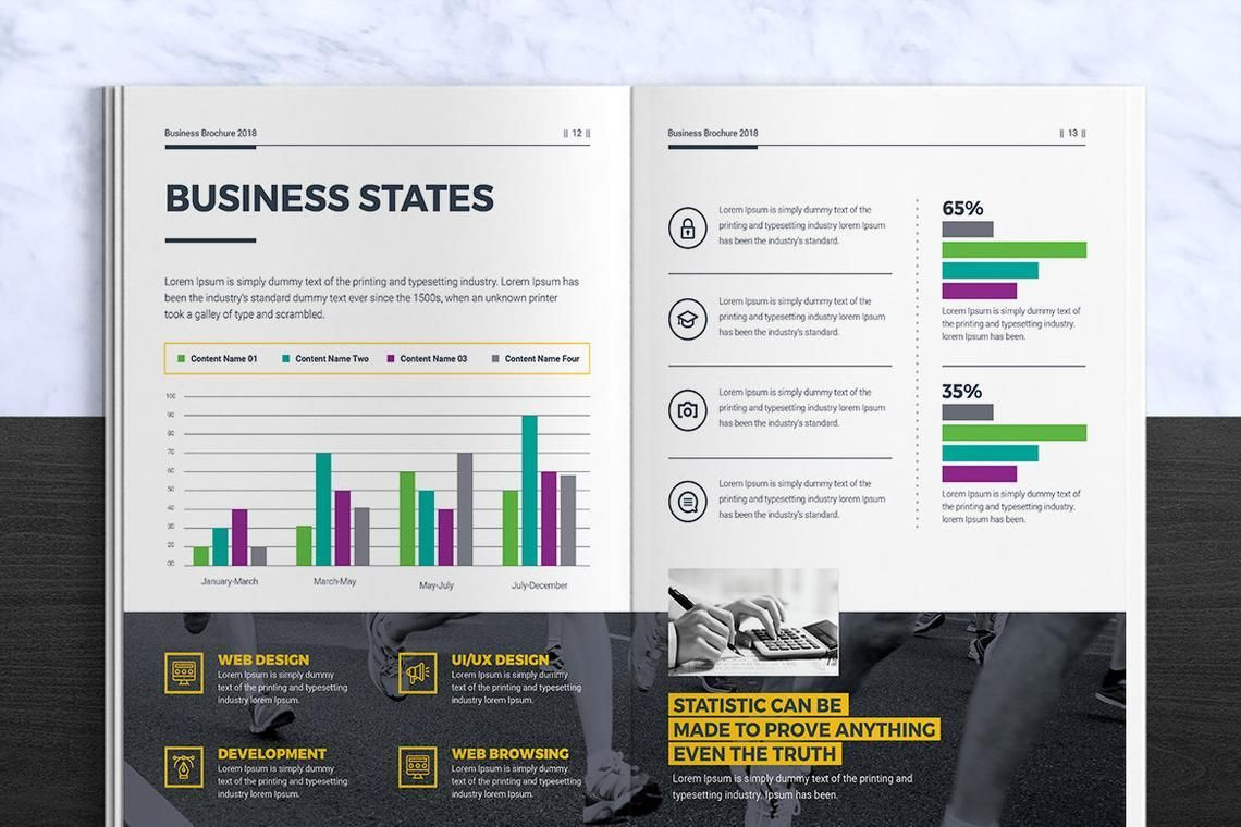 Corporate InDesign Brochure Template, Slide 7, 08870, Business — PoweredTemplate.com