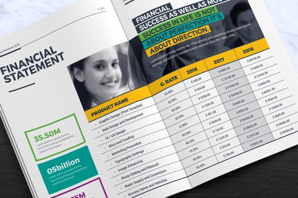 Corporate InDesign Brochure Template, Slide 8, 08870, Business — PoweredTemplate.com