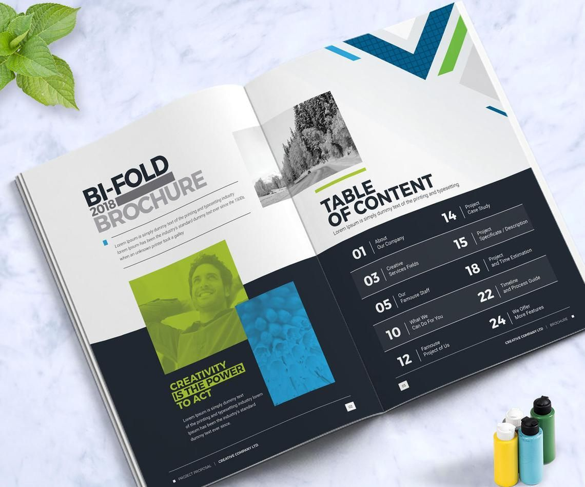 Company InDesign Bi-Fold Brochure Template, Slide 2, 08871, Business — PoweredTemplate.com