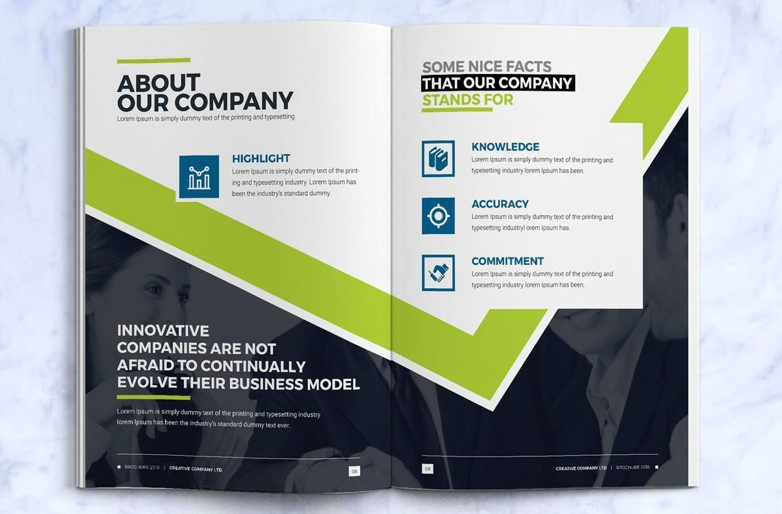 Company InDesign Bi-Fold Brochure Template, Slide 5, 08871, Business — PoweredTemplate.com