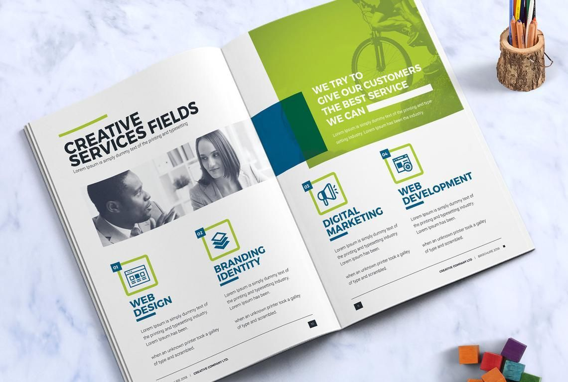 Company InDesign Bi-Fold Brochure Template, Slide 6, 08871, Business — PoweredTemplate.com