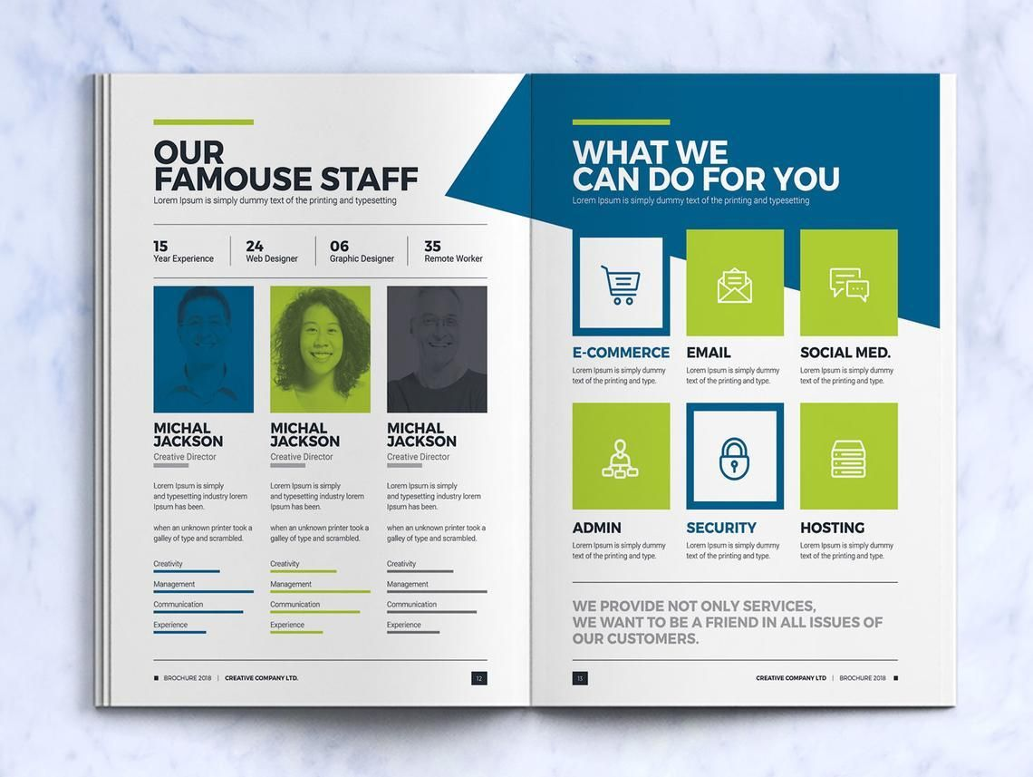Company InDesign Bi-Fold Brochure Template, Slide 7, 08871, Business — PoweredTemplate.com