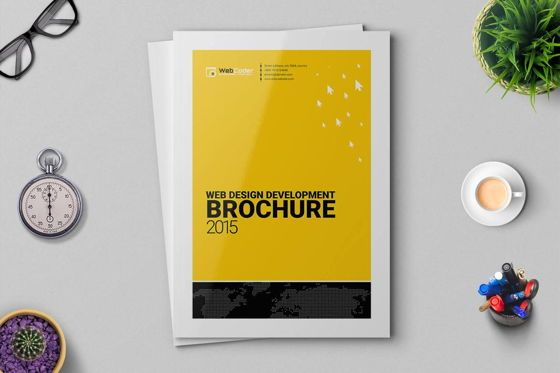 Consulting: Web Design and Development Agency InDesign Brochure Template #08872