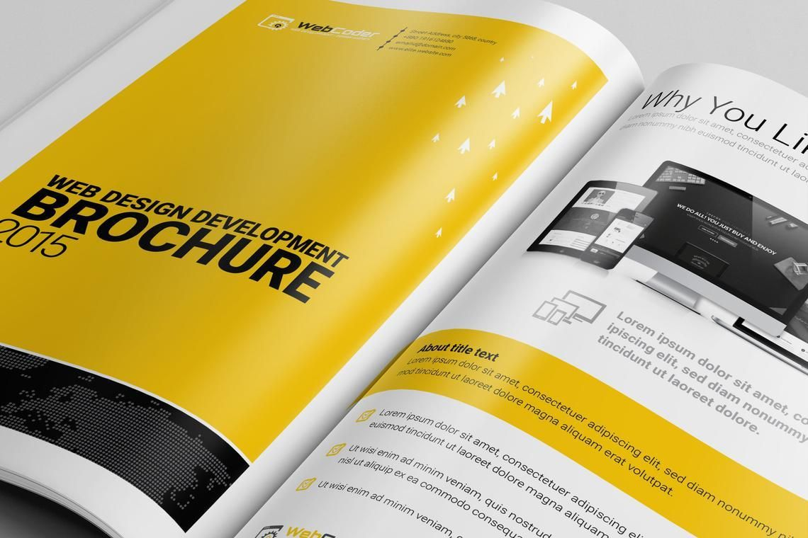 Web Design and Development Agency InDesign Brochure Template, Slide 2, 08872, Consulting — PoweredTemplate.com