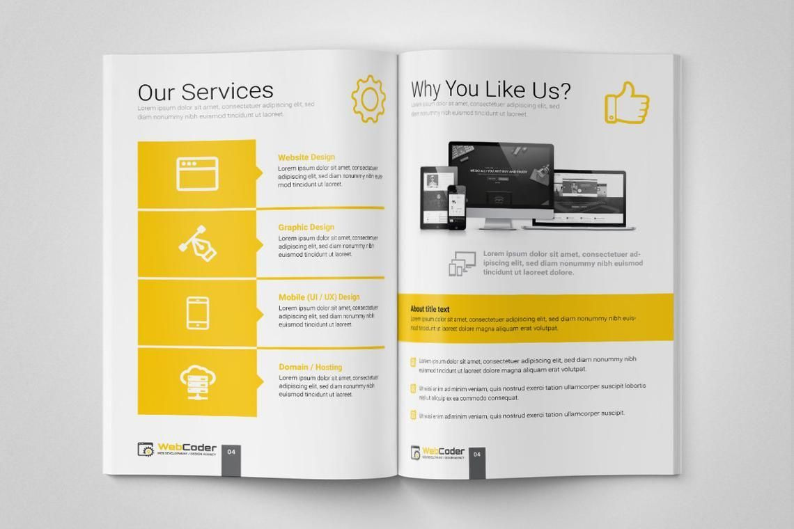 Web Design and Development Agency InDesign Brochure Template, Slide 4, 08872, Consulting — PoweredTemplate.com