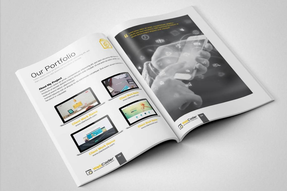 Web Design and Development Agency InDesign Brochure Template, Slide 5, 08872, Consulting — PoweredTemplate.com