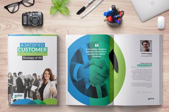 Business: 12 Page Corporate Clean Business InDesign Brochure Template #08873