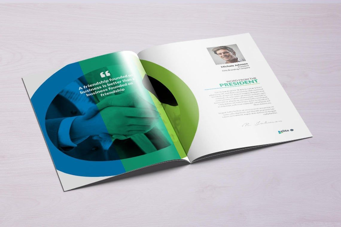 12 Page Corporate Clean Business InDesign Brochure Template, Slide 2, 08873, Business — PoweredTemplate.com
