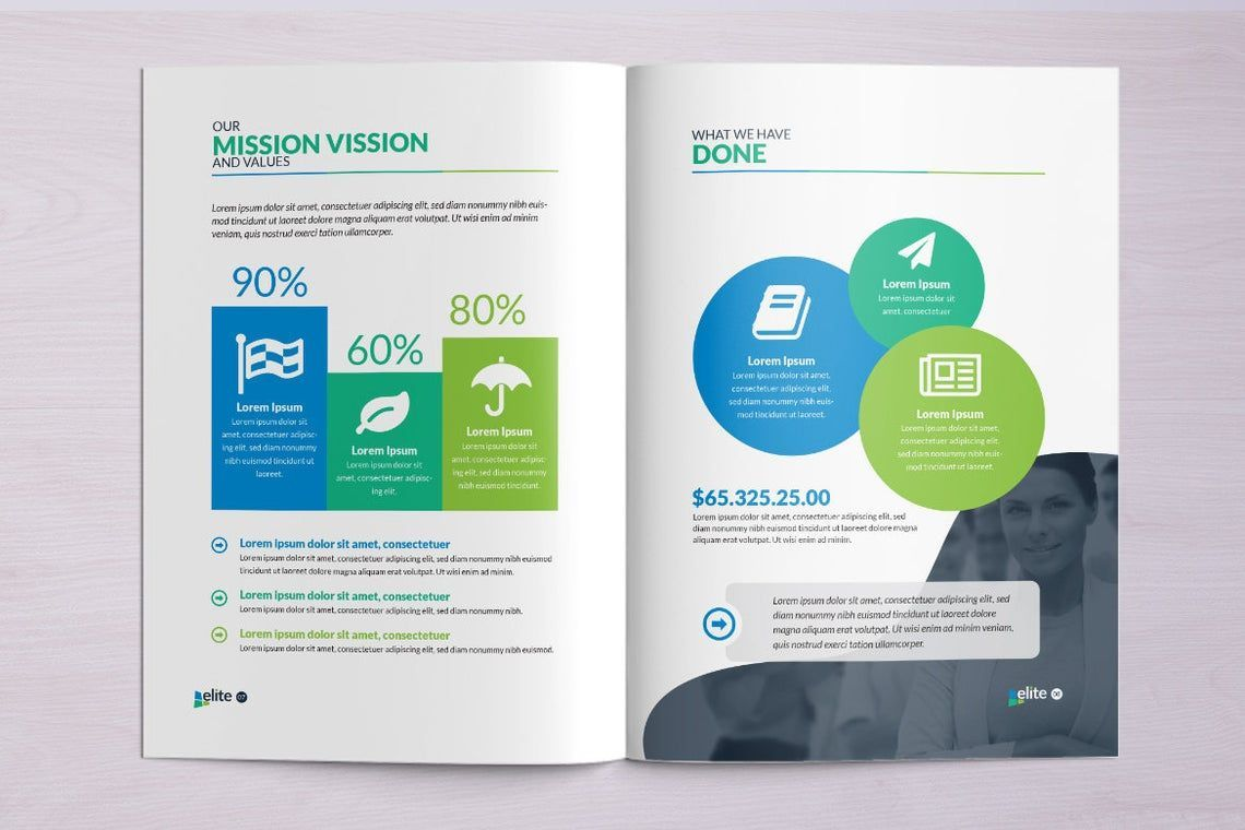 12 Page Corporate Clean Business InDesign Brochure Template, Slide 3, 08873, Business — PoweredTemplate.com