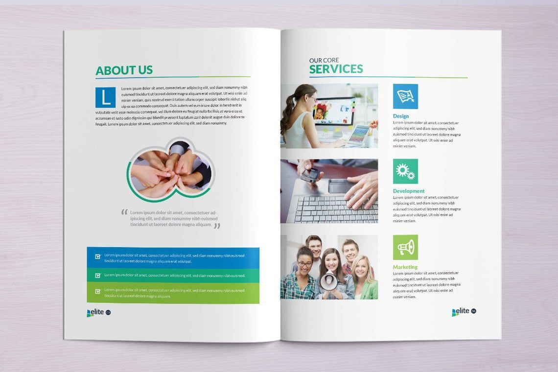12 Page Corporate Clean Business InDesign Brochure Template, Slide 4, 08873, Business — PoweredTemplate.com