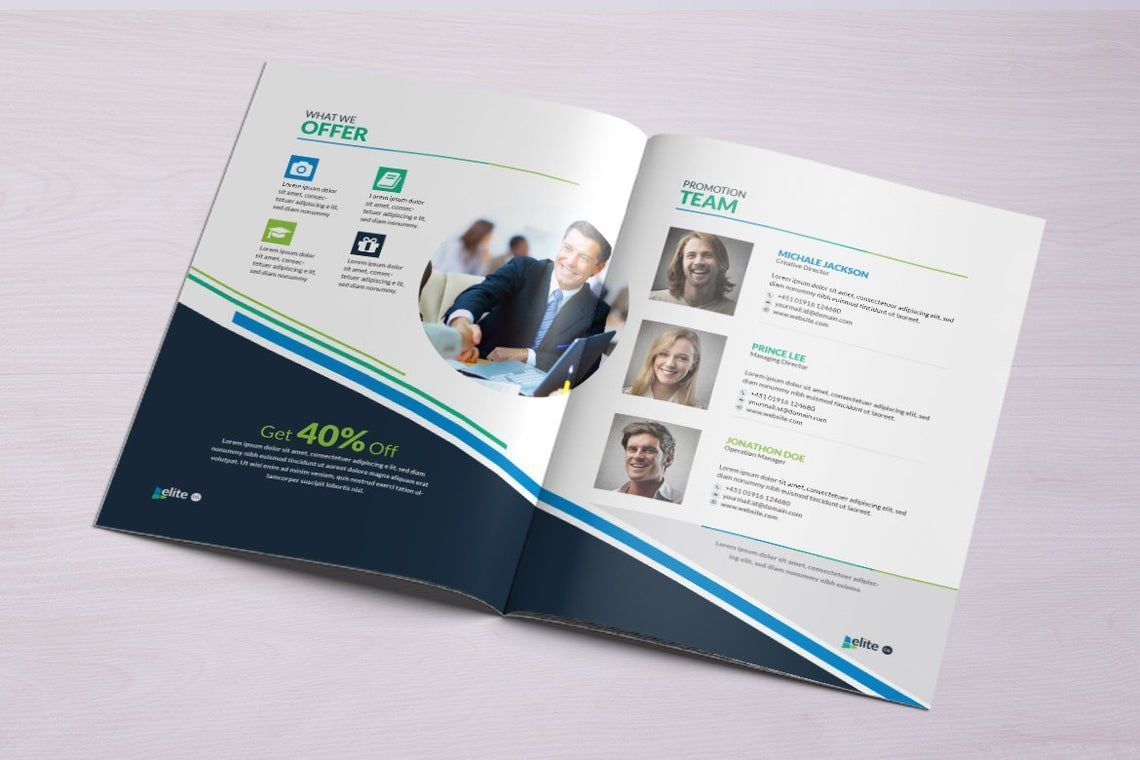 12 Page Corporate Clean Business InDesign Brochure Template, Slide 5, 08873, Business — PoweredTemplate.com