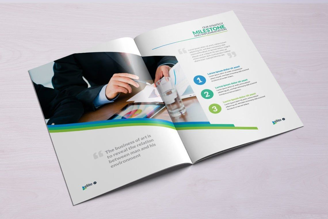 12 Page Corporate Clean Business InDesign Brochure Template, Slide 6, 08873, Business — PoweredTemplate.com
