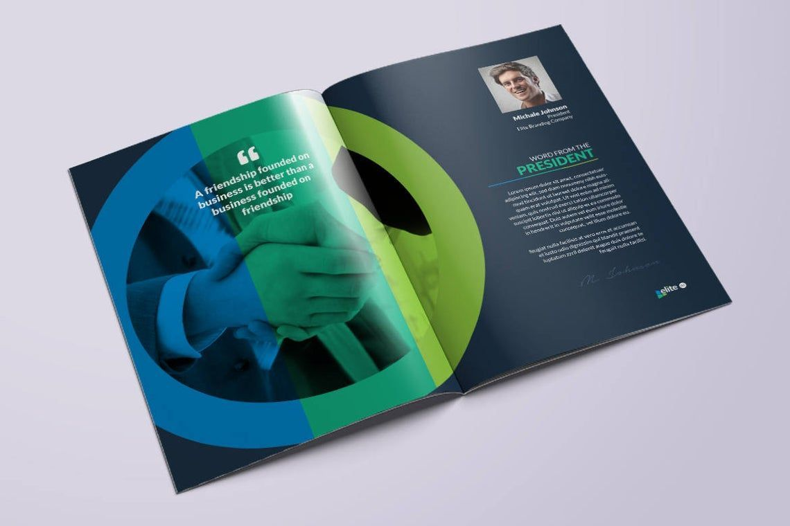 12 Page Corporate Clean Business InDesign Brochure Template, Slide 8, 08873, Business — PoweredTemplate.com