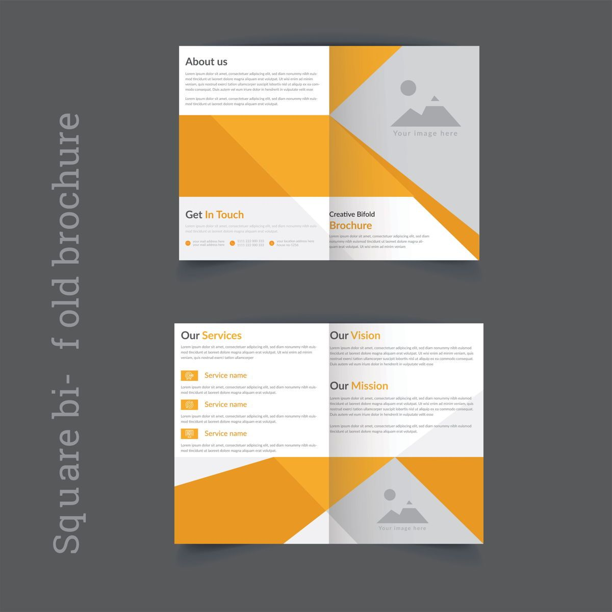 Creative corporate Professional Business Brochure Template, Slide 2, 08874, Astratto/Texture — PoweredTemplate.com
