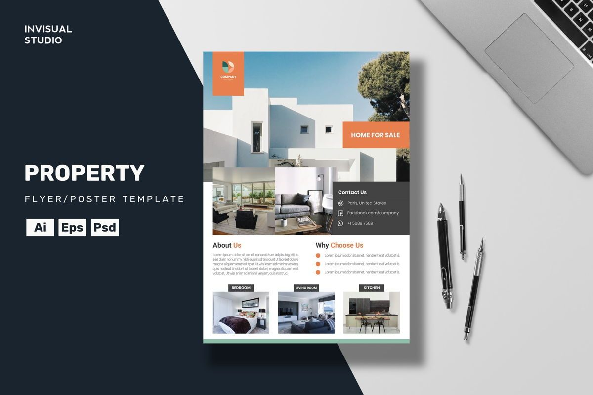 Property Flyer Template, 08883, Business Concepts — PoweredTemplate.com