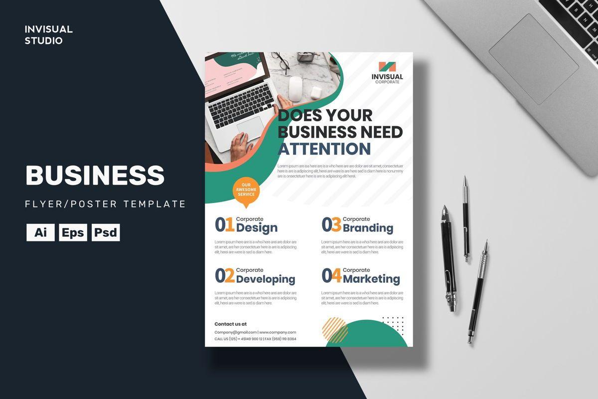 Business Attention Flyer Template, 08884, Business — PoweredTemplate.com