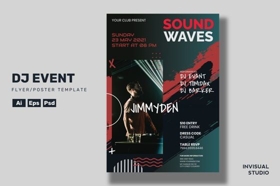 Art & Entertainment: DJ Event Flyer Template #08887