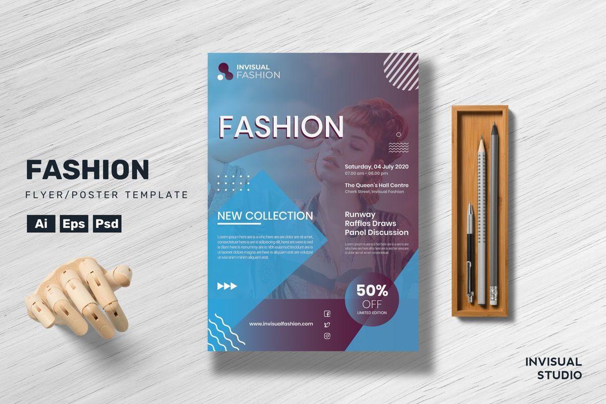 Fashion Flyer Template, 08888, Art & Entertainment — PoweredTemplate.com