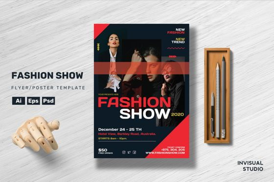 Art & Entertainment: Fashion Show Flyer Template #08889