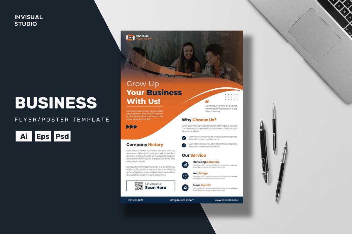 Grow Up Business Flyer Template, 08891, Business — PoweredTemplate.com