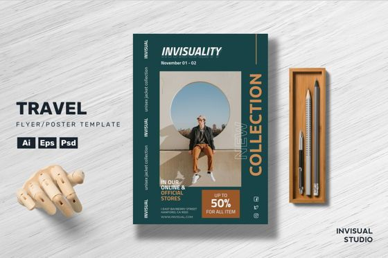 Art & Entertainment: Man Fashion Flyer Template #08894