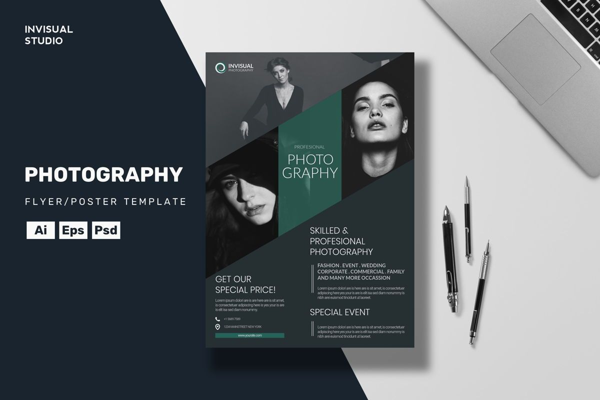 Photography Flyer Template Flyer Invisual Studio Poweredtemplate