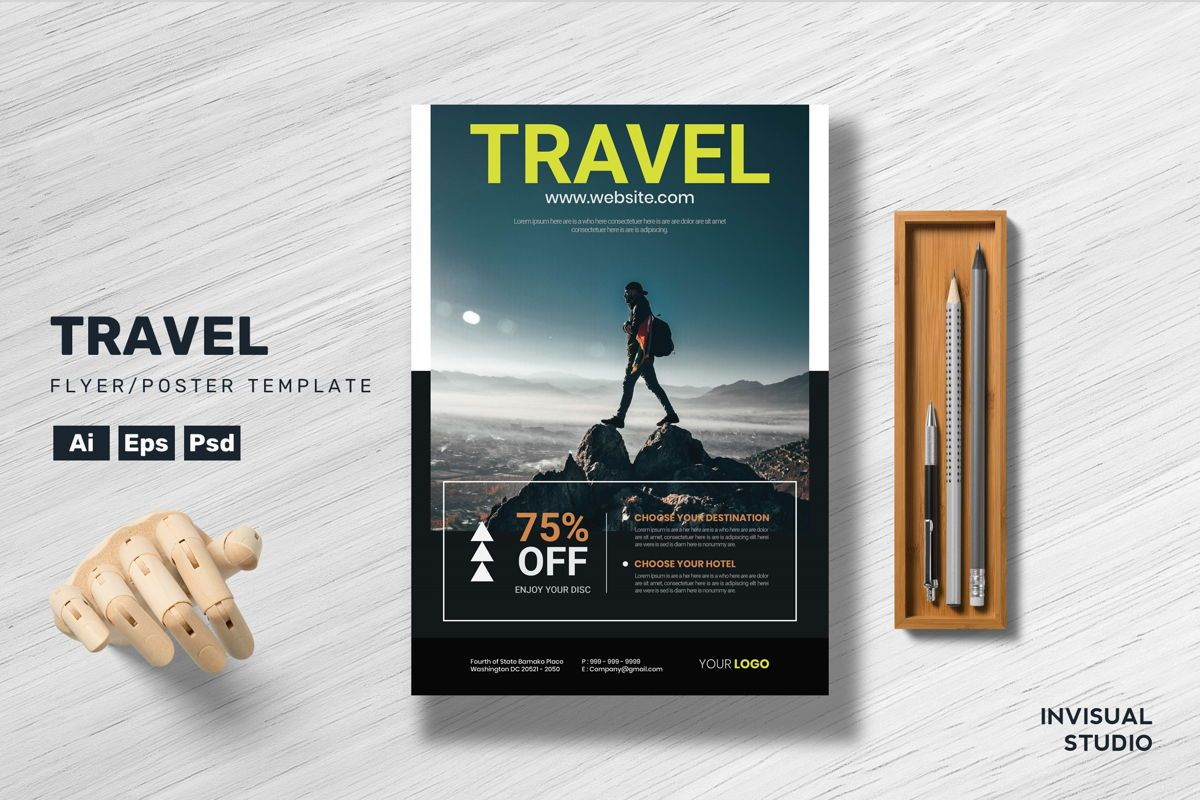 Travel Flyer Template, 08898, Holiday/Special Occasion — PoweredTemplate.com