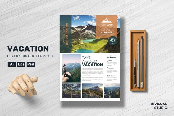 Holiday/Special Occasion: Vacation Flyer Template #08899